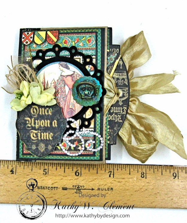 Enchanted Forest Petite Album by Kathy Clement for Frilly and Funkie Challenge Blog, Product Enchanted Forest by Graphic 45, Photo 25
