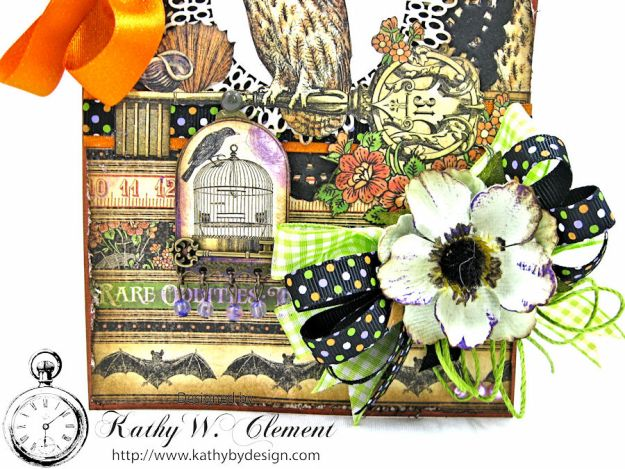 Happy Howloween Card, Rare Oddities, by Kathy Clement for Really Reasonable Ribbon Product by Graphic 45, Photo 2