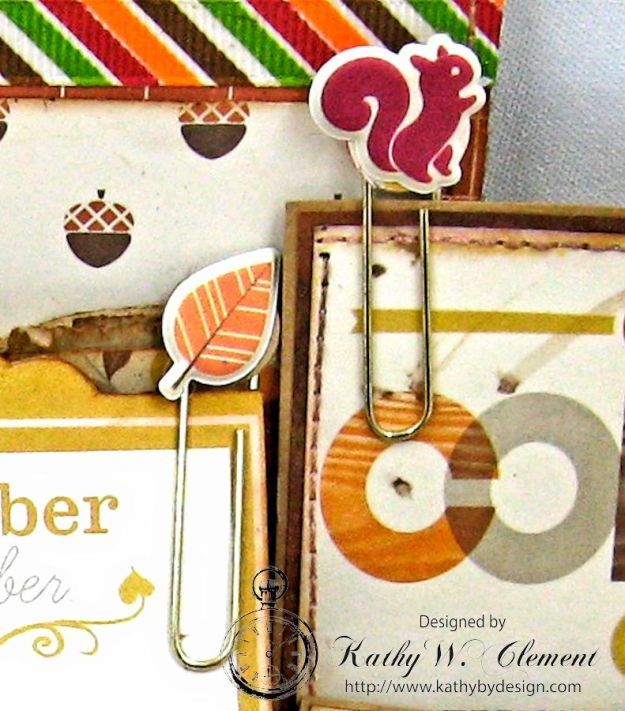 Just a Hint of Fall Paper Bag Pocket by Kathy Clement for Really Reasonable Ribbon Product October Afternoon Apple Cider Photo 5
