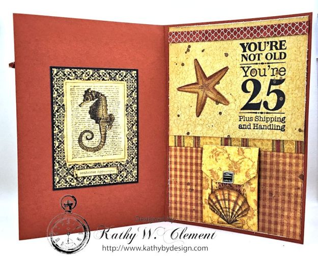 Make a Wish Masculine Birthday Card by Kathy Clement for Really Reasonable Ribbon, Product Botanicabella by Graphic 45 Photo 5