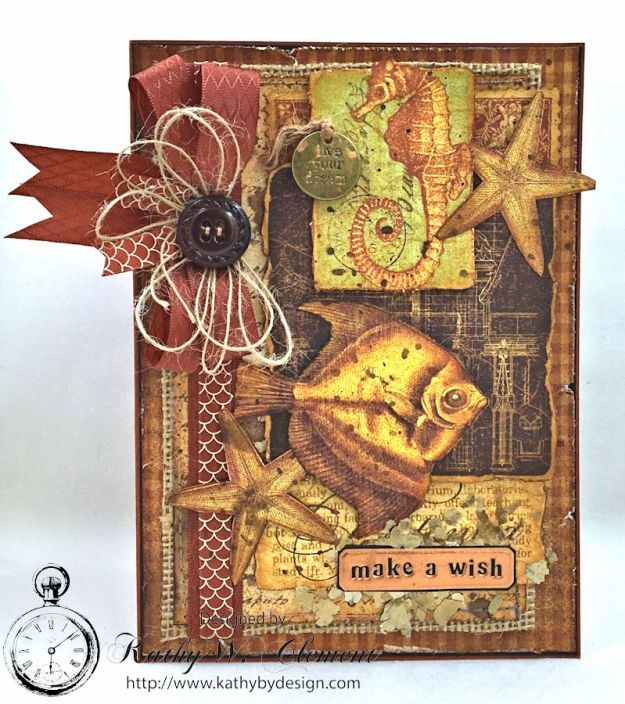 Make a Wish Masculine Birthday Card by Kathy Clement for Really Reasonable Ribbon, Product Botanicabella by Graphic 45 Photo 8