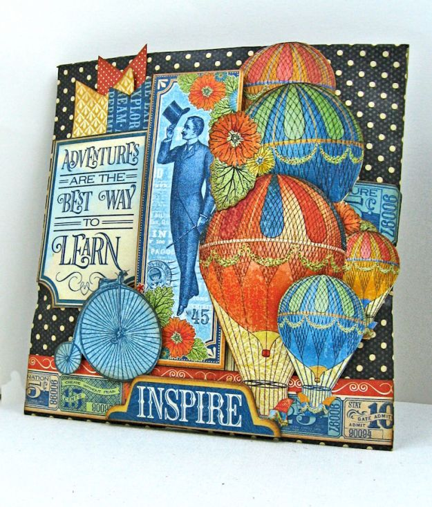 World's Fair Sweet Treat Bag Tutorial, World's Fair, Policy Envelopes, by Kathy Clement, Product by Graphic 45, Photo 2