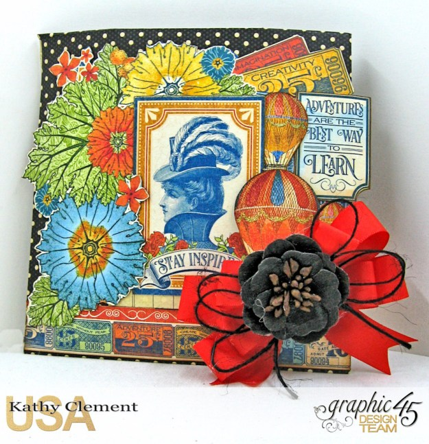 World's Fair Sweet Treat Bag Tutorial, World's Fair, Policy Envelopes, by Kathy Clement, Product by Graphic 45, Photo 4 jpg