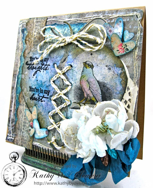 Shabby Chic Sympathy Card by Kathy Clement for Really Reasonable Ribbon, Product by Really Reasonable Ribbon and Canvas Corp Brands Photo 1