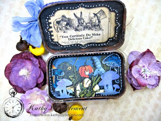 Altered Altoids Tin, Halloween in Wonderland, by Kathy Clement for Gypsy Soul Laser Cuts, Product by Graphic 45, Photo 11