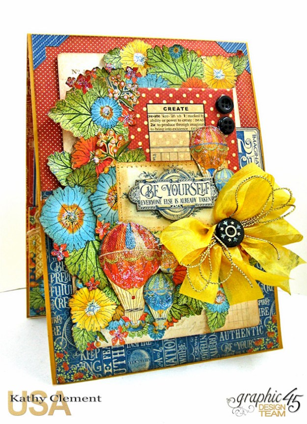 Ladies and Gents Birthday Card Tutorial, World's Fair, by Kathy Clement Product by Graphic 45, Photo 1