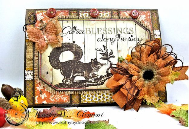 Gather Blessings Along the Way Woodland Card, Kathy Clement, photo-4