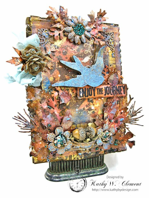 The Last Leaf Mixed Media Canvas by kathy Clement for Author, Author Challenge at Frilly & Funkie photo 2