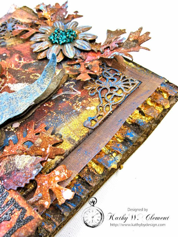 The Last Leaf Mixed Media Canvas for Author, Author Challenge at Frilly and Funkie photo-7
