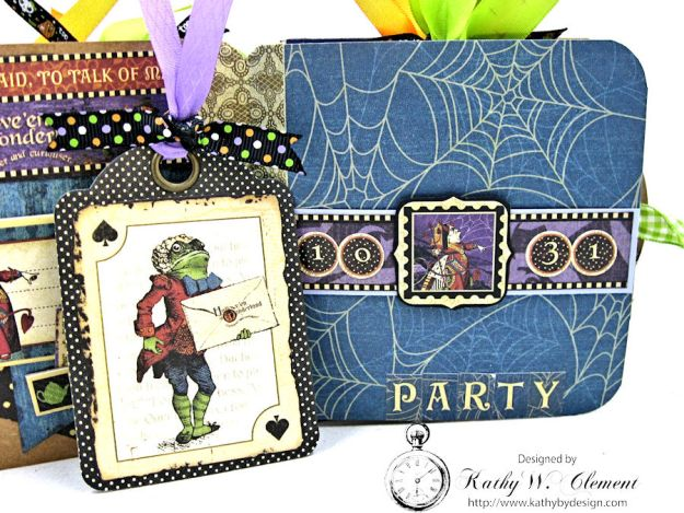 Trick or Treat Tag Album, Halloween in Wonderland, by Kathy Clement for RRR, Product by Graphic 45, Photo 6