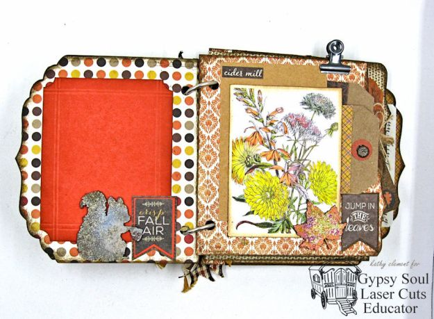Thanksgiving Harvest Mini Album tutorial by Kathy Clement