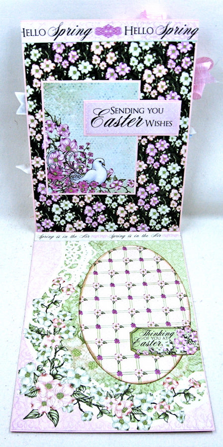 Hello Spring Flowering Dogwood Card by Kathy Clement for Heartfelt Creations Alumni Hop February 2017 Photo 4