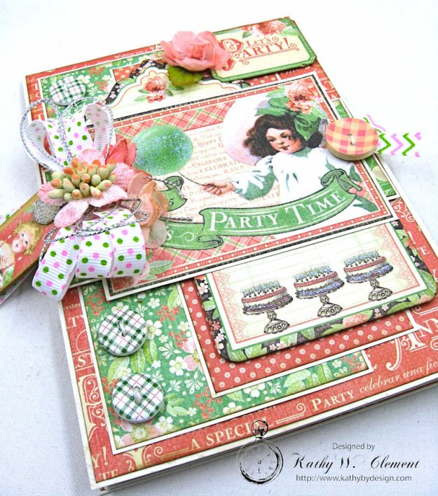 Graphic 45 Shabby Chic Birthday Celebration Card by Kathy Clement for Really Reasonable Ribbon Photo 4