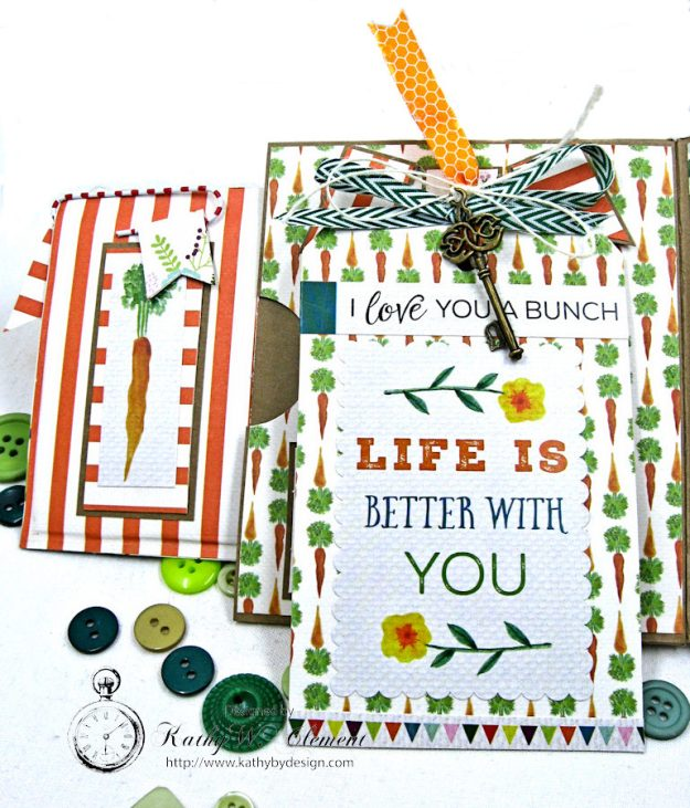 Garden Green Pocket Card with Carta Bella Homegrown by Kathy Clement Photo 5