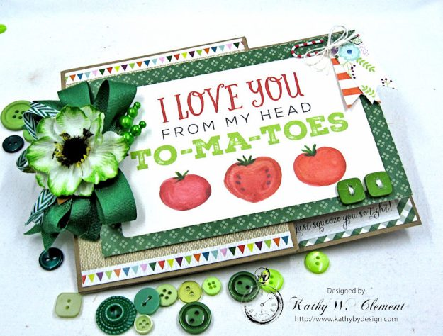 Garden Green Pocket Card with Carta Bella Homegrown by Kathy Clement Photo 2