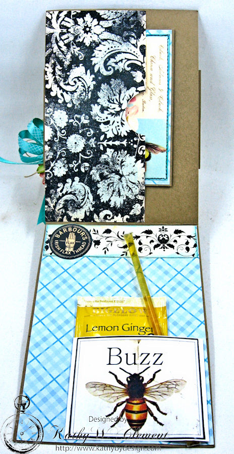 Busy Bee Greeting Card with Pockets by Kathy Clement for Really Reasonable Ribbon Photo 4