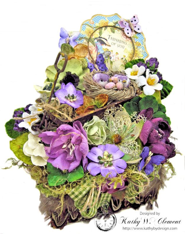 Love Warms Every Nest Springtime Vignette by Kathy Clement for Petaloo International Photo 1