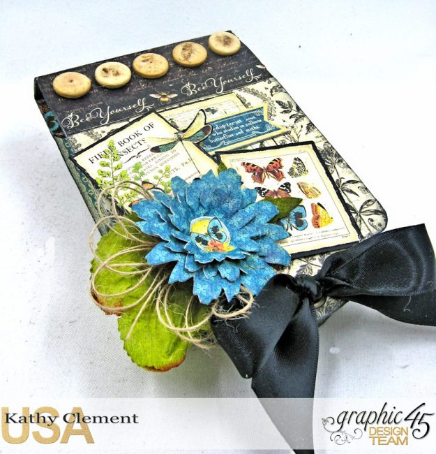 Nature Sketchbook Upcycled Butterfly Notepad Tutorial Nature Sketchbook by Kathy Clement Product by Graphic 45 Photo 3