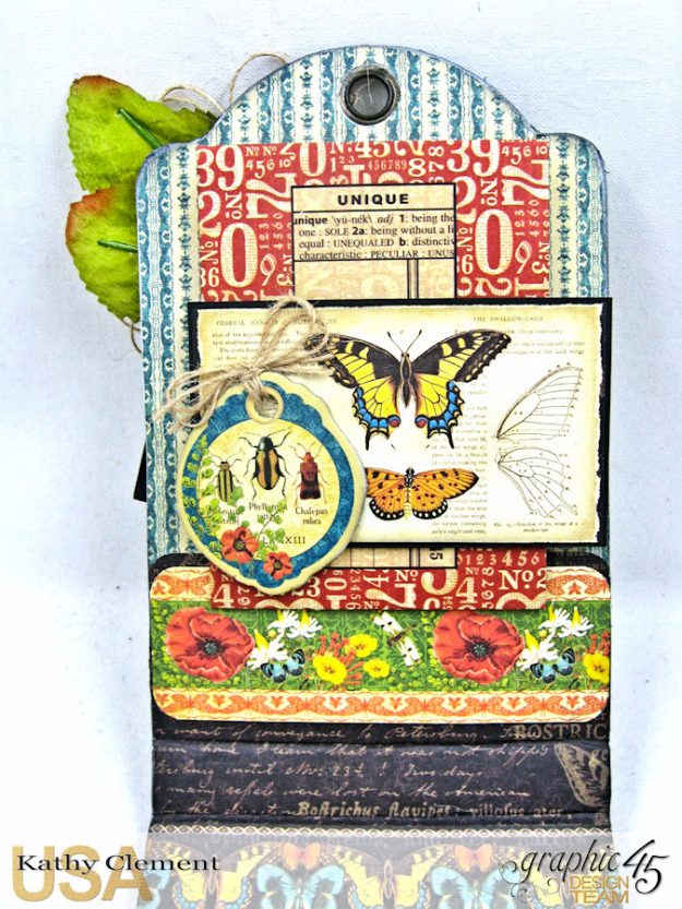 Nature Sketchbook Upcycled Butterfly Notepad Tutorial Nature Sketchbook by Kathy Clement Product by Graphic 45 Photo 6