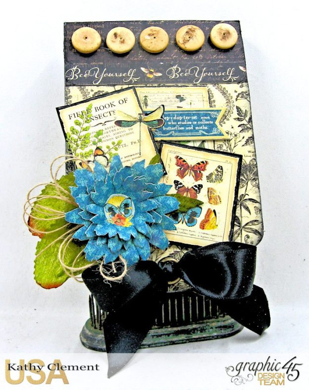 Nature Sketchbook Upcycled Butterfly Notepad Tutorial Nature Sketchbook by Kathy Clement Product by Graphic 45 Photo 1