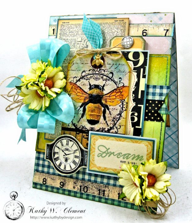 Dream Out Loud Honeybee Greeting Card by Kathy Clement for Really Reasonable Ribbon Photo 2