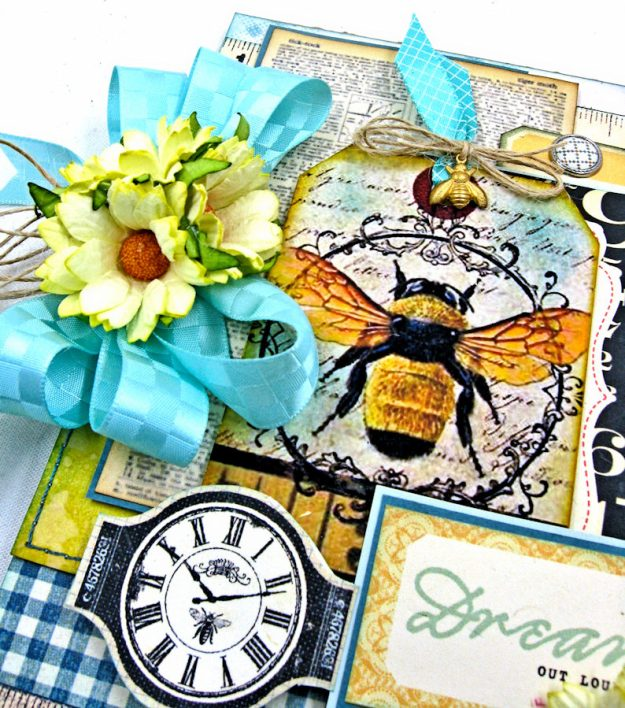 Dream Out Loud Honeybee Greeting Card by Kathy Clement for Really Reasonable Ribbon Photo 3