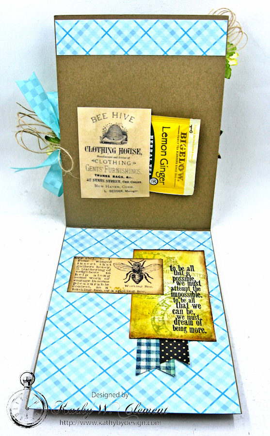 Dream Out Loud Honeybee Greeting Card by Kathy Clement for Really Reasonable Ribbon Photo 5