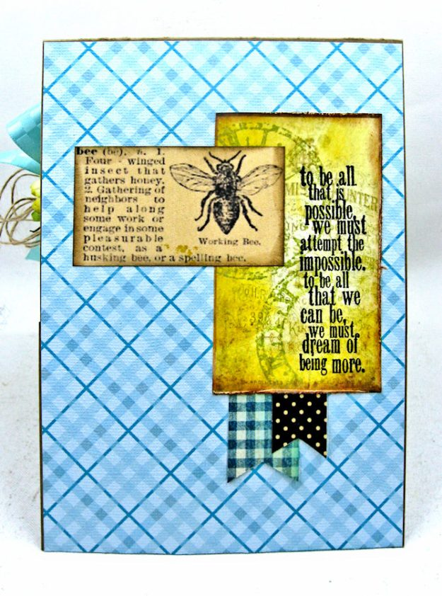 Dream Out Loud Honeybee Greeting Card by Kathy Clement for Really Reasonable Ribbon Photo 6