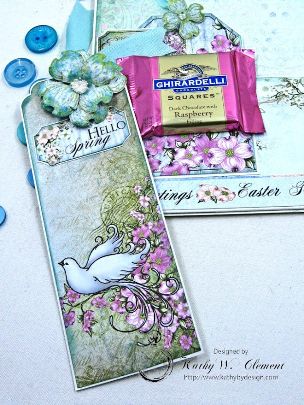 Aqua Flowering Dogwood Easter Card Tutorial by Kathy Clement for Heartfelt Creations Alumni Hop Photo 9