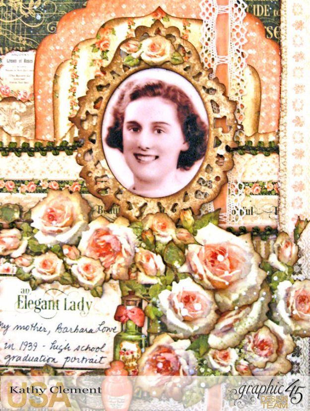 Elegant Lady Layout by Kathy Clement with Graphic 45 Portrait of a Lady Photo 2