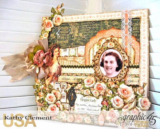 Elegant Lady Layout by Kathy Clement with Graphic 45 Portrait of a Lady Photo 1
