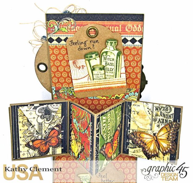 Olde Curiosity Shoppe Pop Up Get Well Card Old Curiosity Shoppe by Kathy Clement Product by Graphic 45 Photo 6