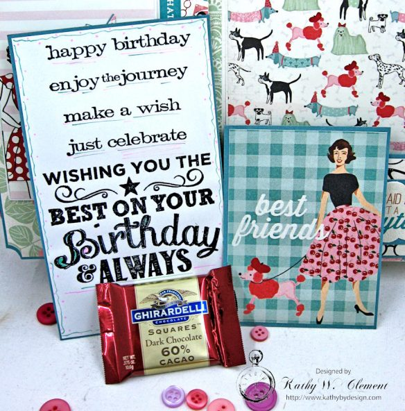 Authentique Fabulous Retro Style Birthday Card by Kathy Clement for Really Reasonable Ribbon Photo 5
