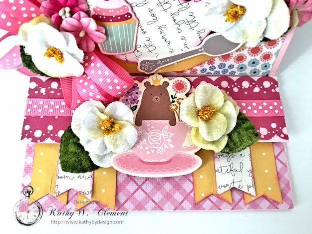 You're My Cup of Tea Easel Card by Kathy Clement for Petaloo International Photo 2
