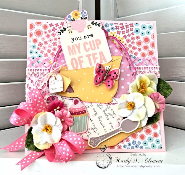 You're My Cup of Tea Easel Card by Kathy Clement for Petaloo International Photo 3