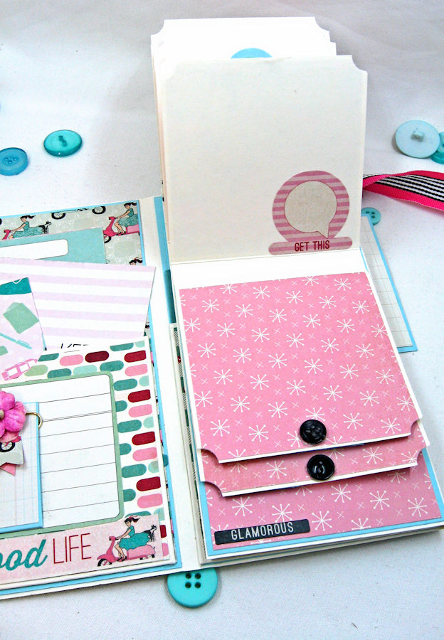 Be YOU Tiful Authentique Fabulous Retro Style Folio Tutorial by Kathy Clement Photo 7
