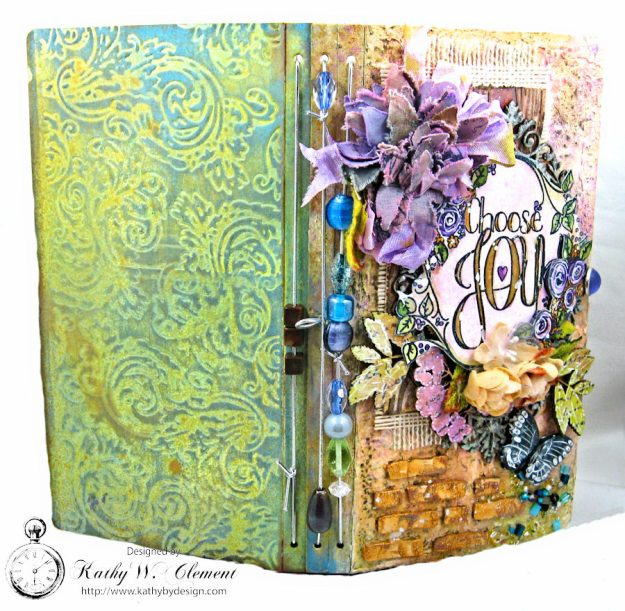 Choose Joy HeARTfelt Journal by Kathy Clement for the Put on Your Inking Cap Challenge at Frilly &  Funkie Photo 2