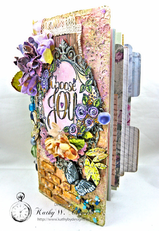 Choose Joy HeARTfelt Journal by Kathy Clement for the Put on Your Inking Cap Challenge at Frilly &  Funkie Photo 3