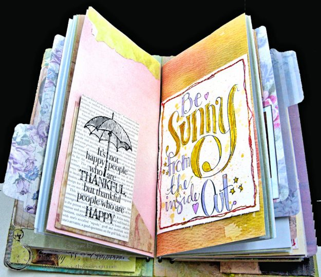 Choose Joy HeARTfelt Journal by Kathy Clement for the Put on Your Inking Cap Challenge at Frilly &  Funkie Photo 6