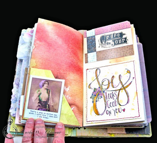 Choose Joy HeARTfelt Journal by Kathy Clement for the Put on Your Inking Cap Challenge at Frilly &  Funkie Photo 7