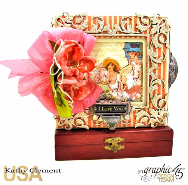 Tea Time Note Cards Tutorial A Place in Time Cafe Parisian by Kathy Clement Product by Graphic 45 Photo 1