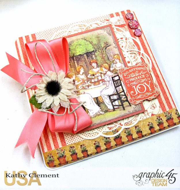 Tea Time Note Cards Tutorial A Place in Time Cafe Parisian by Kathy Clement Product by Graphic 45 Photo 2
