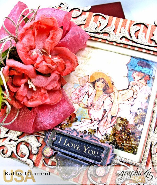 Tea Time Note Cards Tutorial A Place in Time Cafe Parisian by Kathy Clement Product by Graphic 45 Photo 3