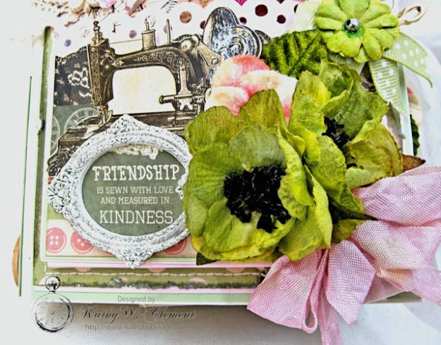 Sew Much Love Folio Video Mademoiselle by Kathy Clement Product by Petaloo and Kaisercraft Photo 3