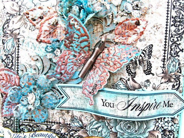 You Inspire Me Easel Card Tutorial Everyday Heroes by Kathy Clement Product by Heartfelt Creations Photo 5