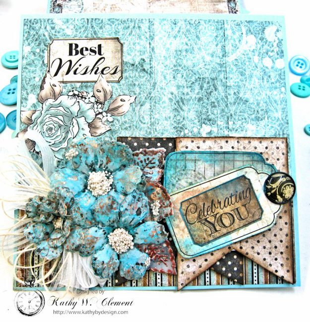 You Inspire Me Easel Card Tutorial Everyday Heroes by Kathy Clement Product by Heartfelt Creations Photo 4