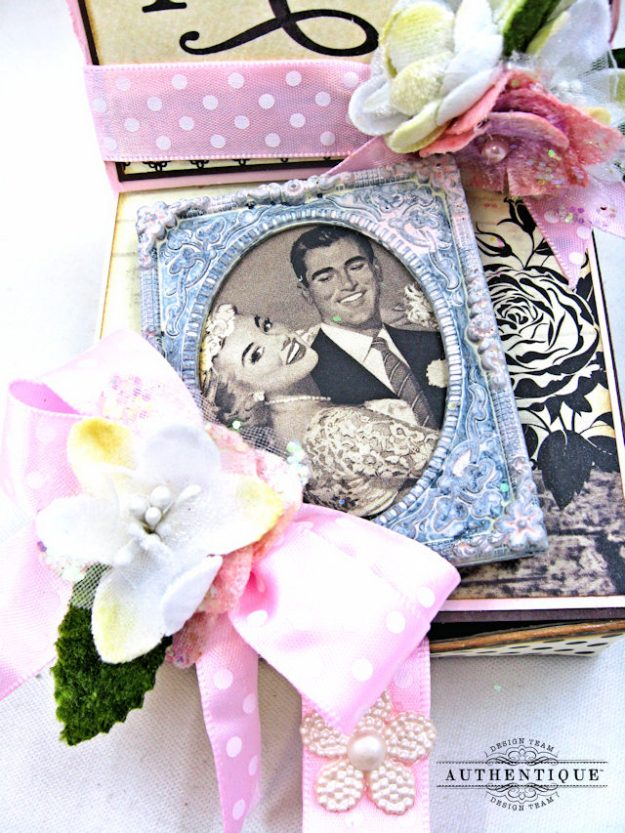 Mister and Missus Easel Style Gift Box Always by Kathy Clement Product by Authentique Photo 3