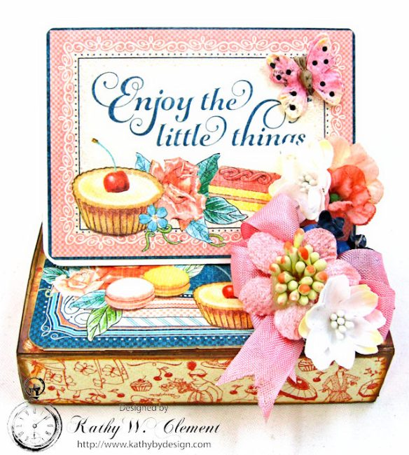 Enjoy the Little Things in Life Gift Card Holder Cafe Parisian by Kathy Clement for Really Reasonable Ribbon Product by Graphic 45 Photo 1