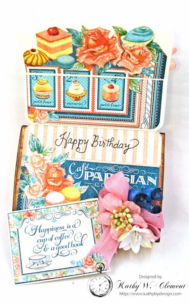 Enjoy the Little Things in Life Gift Card Holder Cafe Parisian by Kathy Clement for Really Reasonable Ribbon Product by Graphic 45 Photo 4