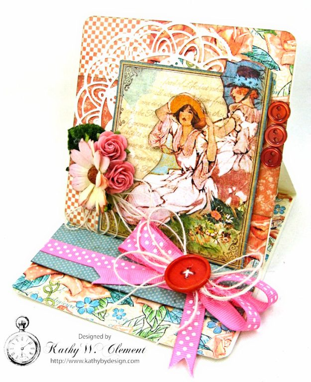 Beautiful Mother's Day Wishes Easel Card by Kathy Clement for Really Reasonable Ribbon Photo 1
